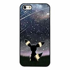 funda carcasa para iphone 4 / 4s 5 5c 6 7 Pokemon Go Umbreon cielo Pikachu Night
