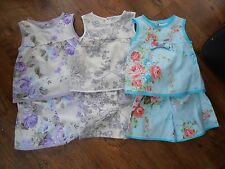 Girls summer shorts & top set Age 3 years Hand crafted