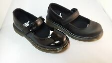 Dr Martens Maccy Black Leather & Black Patent Mary Jane Shoe