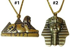 Egyptian king Tut Sphinx Pyramids Necklace Pendant Pharaoh Egypt Jewelry 102