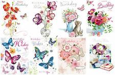 3D Decoupage Birthday Cards by Noel Tatt Female Traditional