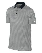 NIKE MEN'S VICTORY POLO SHIRT STRIPES DRI FIT SMART COLLAR GOLF TENNINS STYLE