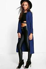 Boohoo Womens Charlotte Collarless Duster