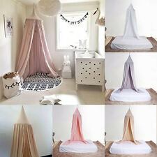 Kids Baby Bed Canopy Bedcover Mosquito Net Curtain Bedding Dome Tent Cotton - UK
