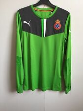 RCD Espanyol Puma Mens Goalkeeper L/S Football Shirt Jersey - Green - BNWT