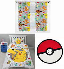 "Pokemon Go Catch Kids Single Duvet Bedding 66""x54"" Drop Curtains Rug - 3 Choices"