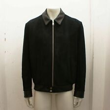 New Balenciaga Leather Suede and Calfskin Bomber Jacket Size 50 BNWT RRP £1965