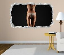 3D Mural tattoo Sexy Woman Erotic heels Po Boots Wall Sticker Breakthrough