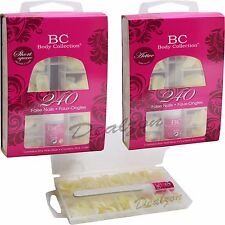 Body Collection 240 False Nails / Tips  with Nail Glue Active Short Square New