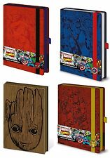 Official Marvel Premium A5 Notebook Lined Avengers Guardians of the Galaxy UK
