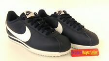 Nike Classic Cortez Leather Womens Trainers Casual Shoes Blue White New
