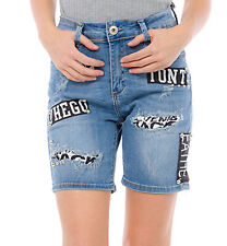 Damen Jeans Hot Pants Hüfthose Shorts Stretch Hotpants Bermuda Baggy Boyfriend