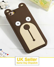 3D Cutout Brown Bear Soft Silicone Cover Cases for iPhone 6 / 6s / 7