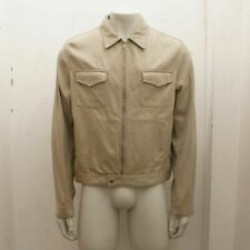 New Prada Beige Cotton Silk Twill Denim Style Jacket Jil Sander Era Size L BNWT