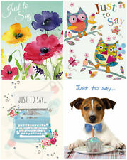 Pack of 4 'Just To Say' Note-Cards by Noel Tatt