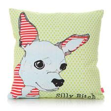 Casey Rogers Life's a Bitch Cushion: Chihuahua, French Bulldog, Scruffy Mutt