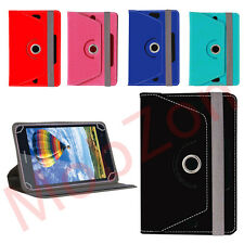 360° ROTATING LEATHER FLIP CASE FLAP COVER FOR iBALL SIDE 3G 7334Q
