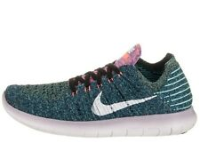 Womens Nike Free RN Flyknit New Trainers Running Shoes Black White Mango