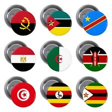 Flags of Africa, African Countries on Pin / Button Badge
