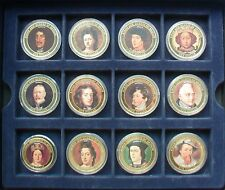 2007 $1 COOK ISLANDS KINGS & QUEENS OF BRITAIN 24K PLATED & PHOTO