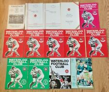 Waterloo Rugby Union Programmes 1967 - 1996