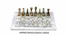 Scacchiera in Marmo Bianco e Onice Verde Marble Chess Set Classic Home Design