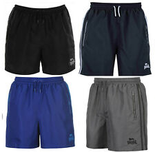Mens Lonsdale 2 Pockets Training Mesh Two Stripe Woven Shorts Gym Branded Boxing