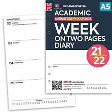 Academic 2017-2018 Week on one page diary FILOFAX A5 / PERSONAL Compatible
