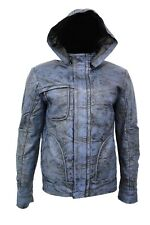 New Stylish Ghost Protocol Men's Mission Impossible Hooded Real Leather Jacket