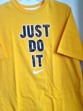 AUTHENTIC NIKE 100% COTTON JUST DO IT REGULAR FIT T SHIRT TFSS0438-704 YELLOW