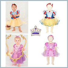 Disney Baby Princess Dresses Rapunzel or Snow White + Bloomers & Headband  0-18m