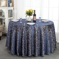 Jacquard Round Rectangular Dining Tablecloths Hotel Wedding Catering Decoration