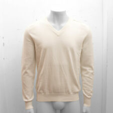 New Maison Martin Margiela Cream Leather Elbow Patch Jumper Size M BNWT RRP £245