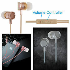 All-Metal Volume Control Bass Earphones Compatible For HTC Desire 326G Dual Sim