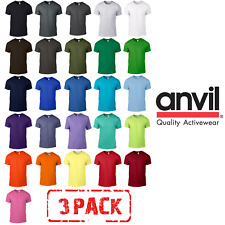 3 x MEN'S T-SHIRT TOPS  NEON BRIGHT FLUORESCENT TSHIRTS 27 COLOURS ANVIL PACK