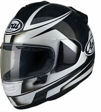 Arai Chaser X Tough Motorcycle Full Face Helmet Black White With Pinlock