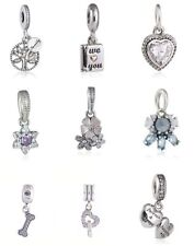 New authentic 925 Sterling Silver Pendant Charm Beads AAA Pave cz genuine charms