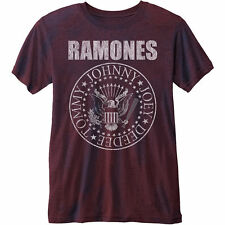 The Ramones Presidential Seal Burnout Official Merchandise T-Shirt M/L/XL - Neu