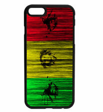 Bob Marley Inspired Jamaican Flag Art Rubber Case For iPhone & Samsung
