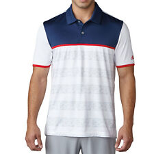 ADIDAS GOLF Men's Climacool Stripe Polo Shirt