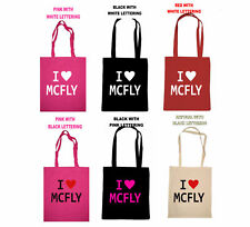 I LOVE MCFLY SCHOOL SHOPPING COTTON TOTE BAG ABOVE THE NOISE BIRTHDAY GIFT