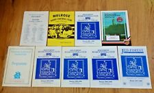 Jed-Forest Rugby Union Programmes 1986 - 1998