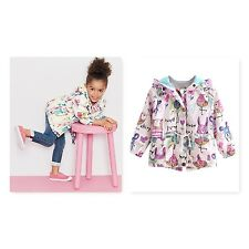 Girls Spring Jacket Mac Trench Summer Coat Hooded Windproof  Breathable Cagoul