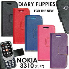 Diary Style Folio Flip Flap Cover Case For New Nokia 3310 (2017)