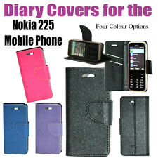 Diary Folio Flip Flap Cover Case For Nokia 225 / SG