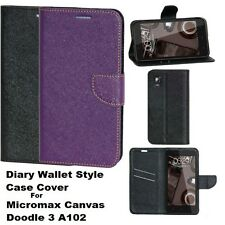DIARY WALLET STYLE FLIP FLAP COVER CASE For MICROMAX CANVAS DOODLE 3 A102