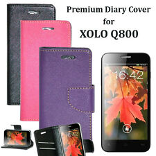 Diary Wallet Style Folio Flip Flap Cover Case For Xolo Q800