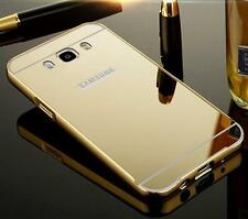 Glaze Metal Bumper Frame With Mirror Back Cover Case For Samsung Galaxy J5- 2016