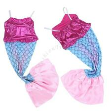 GIRL SHINY MERMADI SET PRINCESS FANCY COSTUME PARTY COSPLAY DRESS UP KIDS OUTFIT