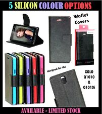 DIARY WALLET STYLE FLIP FLAP COVER CASE For XOLO Q1010 / Q1010i